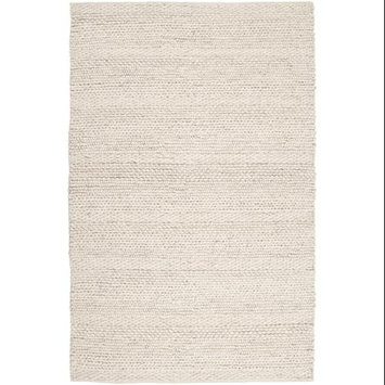 3' X 5' Nature's Essence Pearly White Intertwine Hand Woven Area Throw Rug