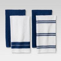 Blue/White Kitchen Towel Set of 4 - Threshold