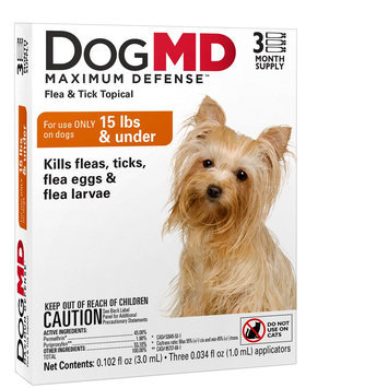Dog MD, Maximum Defense Under 15 Lb Dog Flea and Tick Treatment