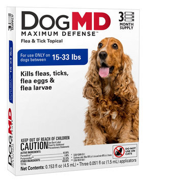 Dog MD, Maximum Defense 15-33 Lb Dog Flea and Tick Treatment