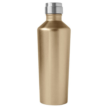 Oggi Deco Lustre 17oz Stainless Steel Insulated Water Bottle - Gold