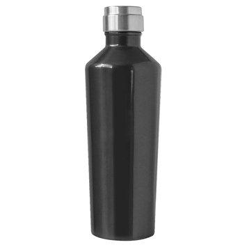 Oggi Deco Lustre 17oz Stainless Steel Insulated Water Bottle - Black