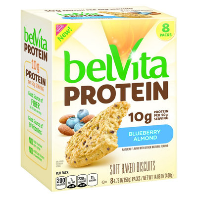 Belvita Blueberry Almond Protein Soft Baked Biscuits - 14.08 oz - 8 ct