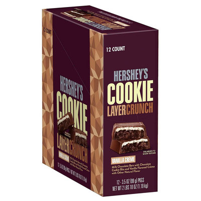 Hershey's(R) Cookie Layer Crunch, Vanilla Crème, 3.5 Oz, Case Of 4 Bags