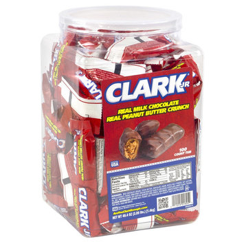 Clarke Clark Bar Milk Jr. All-Natural Mini Bars, Tub Of 100 Pieces