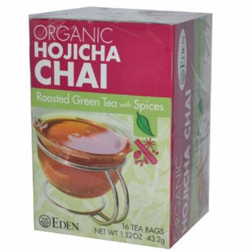 Eden Foods Organic Hojicha Chai Roasted Green Tea with Spices -- 16 Tea Bags