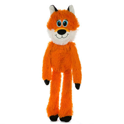 Grreat Choice®Fox Dog Toy - Stuffing-Free, Crinkle, Squeaker