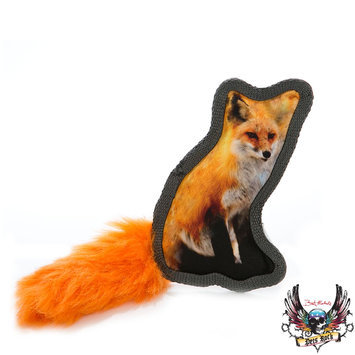 Bret Michaels Pets Rock, Critter Fox Dog Toy - Squeaker