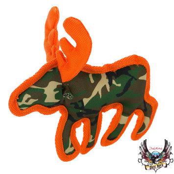 Bret Michaels Pets Rock, Camo Ballastic Moose Dog Toy - Squeaker