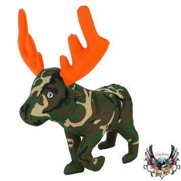 Bret Michaels Pets Rock, Camo Ballastic Moose Dog Toy