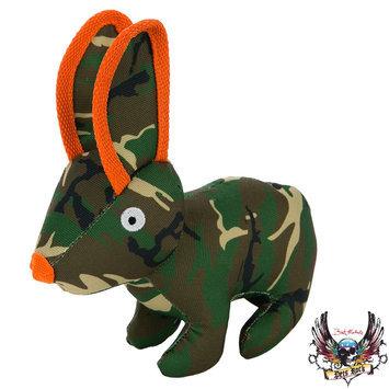 Bret Michaels Pets Rock, Camo Ballastic Rabbit Dog Toy - Squeaker
