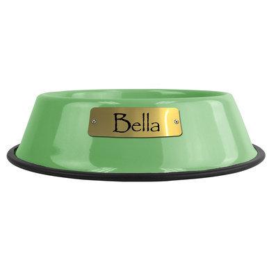Platinum Pets Personalized Pet Bowl size: 32 Oz, Candy Mint
