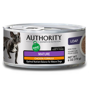 Authority® GNC Pets Mature Dog Food - Chicken size: 6 Oz