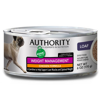 Authority® GNC Pets Adult Dog Food - Chicken, Weight Management size: 6 Oz