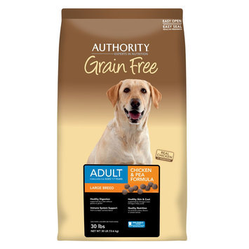 Authority® Grain Free Large Breed Adult Dog Food - Chicken and Pea size: 30 Lb