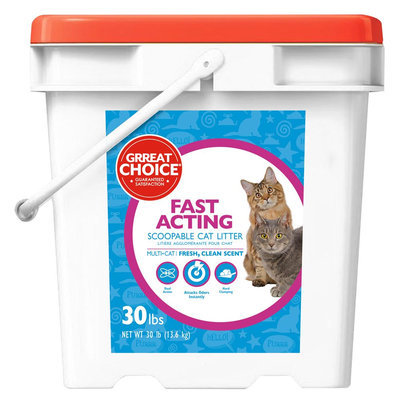 Grreat Choice® Fast Acting Fresh Clean Scent Multi-Cat Litter size: 30 Lb