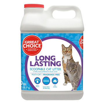 Grreat Choice® Long Lasting Cat Litter - Scoopable, Multi-Cat, Fragrance Free size: 20 Lb