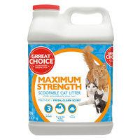 Grreat Choice® Maximun Strength Cat Litter - Scoopable, Muliti-Cat, Fresh Scent size: 20 Lb