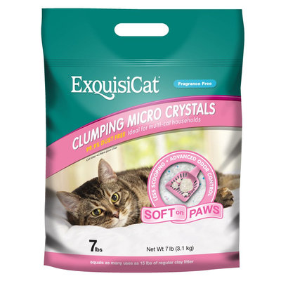 ExquisiCat® Fragrance Free Clumping Micro Crystals Cat Litter size: 7 Lb