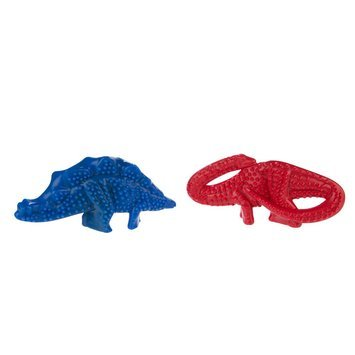 Nylabone Dino Red/ Blue Beef and Chicken Chew (Twin Pack)