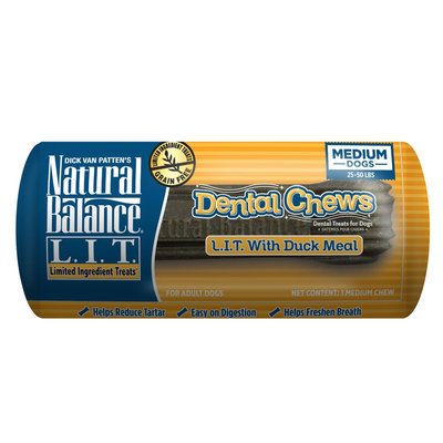 Natural Balance Limited Ingredient Grain Free Duck Medium Dog Dental Chews size: 1 Count