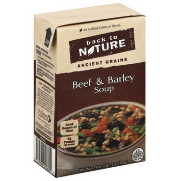 Back to Nature Ancient Grains Beef & Barley Soup, 17.4 oz, (Pack of 6)