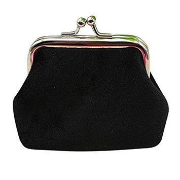 Lady Purse, TOOPOOT Women Corduroy Small Wallet Hasp Purse Clutch Bag (black)