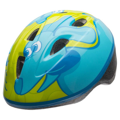 Bell Sports Bell Sprout Force Fetch Infant Bike Helmet - Lime Green/Blue