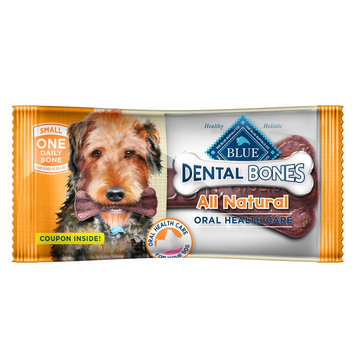 Blue Buffalo Blue, Dental Bones All Natural Small Dental Dog Treat size: 1 Count