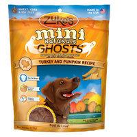 Zukes Zuke's® Mini Naturals, Ghosts Turkey and Pumpkin Dog Treat size: 6 Oz