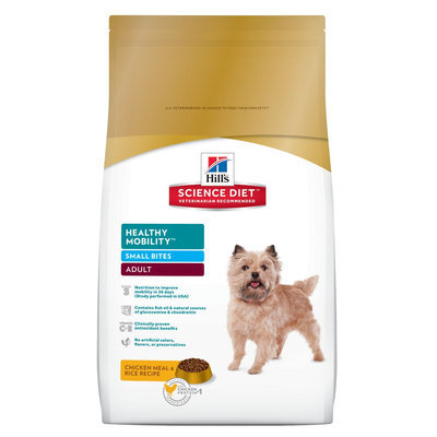 Hill's Science Diet Adult Healthy Mobility Small Bites Chicken Meal and Rice Recipe Dry Dog Food