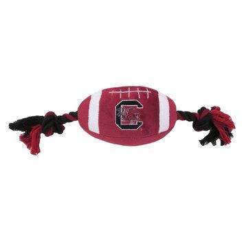 DoggieNation South Carolina Gamecocks Plush Football Dog Toy 0.5 lb