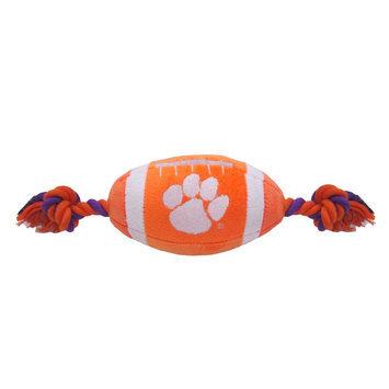 DoggieNation Clemson Plush Football Dog Toy 0.5 lb
