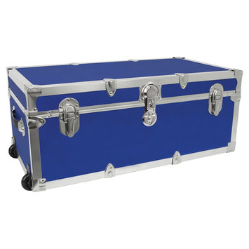 Advantus Mercury Modern - Footlocker Storage Trunk with Wheels - Blue