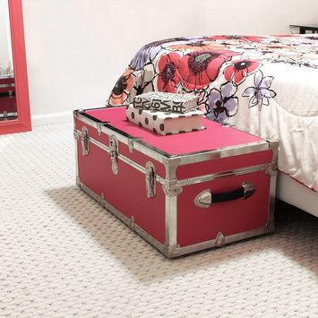 Advantus Mercury Modern - Footlocker Storage Trunk with Wheels - Pink