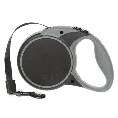 Kong® Essential Tape Retractable Dog Leash size: Large, Black