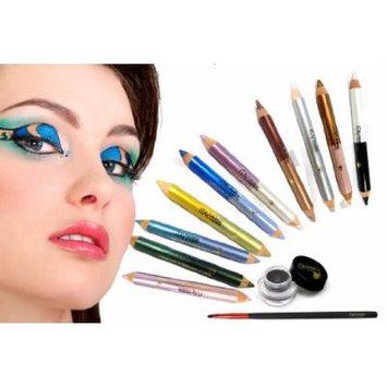 Bundle 12 Items : Itay Mineral High-intensity Pigment Duo Eyeliner Pencils (10pk) + Itay Mineral Gel Eyeliner