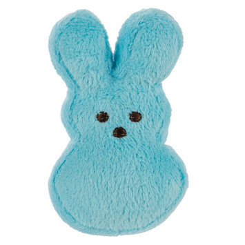 Peeps® Bunny Dog Toy - Plush, Squeaker size: 4 in, Blue