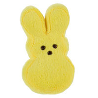 Peeps® Bunny Dog Toy - Plush, Squeaker size: 4 in, Yellow