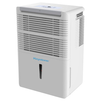 Keystone - 70 Pint Dehumidifier with Electronic Controls, White