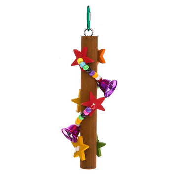 All Living Things® Wood Branch Stars Bird Toy