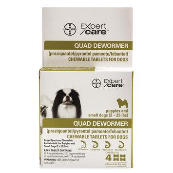 Bayer Expert Care, 2-25 Lb Dog Quad Dewormer size: 2 Lb