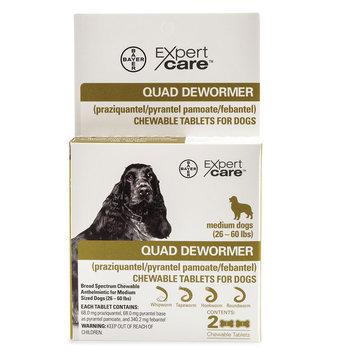 Bayer Expert Care, 2-25 Lb Dog Quad Dewormer size: 26 Lb