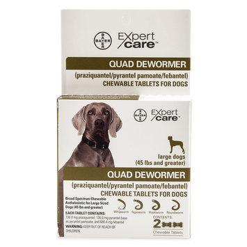 Bayer Expert Care, 2-25 Lb Dog Quad Dewormer size: 45 Lb