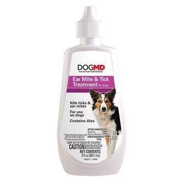 Dog MD, Maximum Defense Ear Mite and Tick Treatment size: 3 Fl Oz