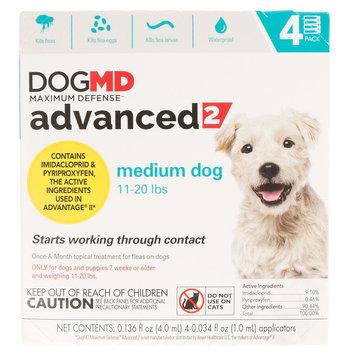 Dog MD, Maximum Defense 11-20 lbs Advanced 2 Flea Treatment size: 4 Count
