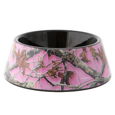 Top Paw® Pink Camo Dog Bowl size: 23.3 Fl Oz