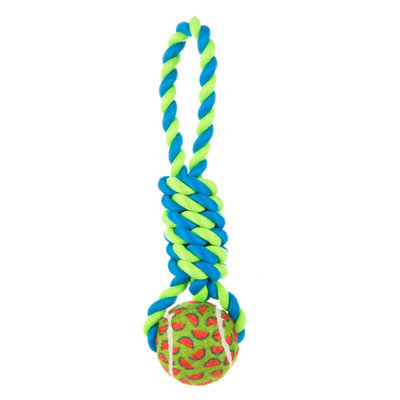 Top Paw® Tennis Knot Tug Dog Toy (Color Varies)
