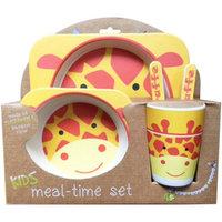 Nandog Pet Gear Bamboo Fiber Kids Plate Set-Giraffe