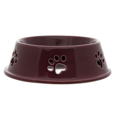 Top Paw® Paw Cut Out Dog Bowl, Red